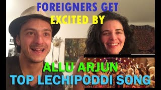 Top Lechipoddi Song Reaction   Colombian Couple   Allu ARjun