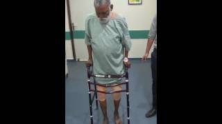 Gait next day after TKR, performed by Dr. Ashu Consul