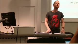 Andreas Malm lecture at Historical Materialism Conference 2017- Deutscher Memorial Prize