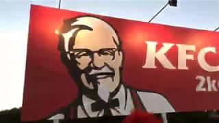 Ronald McDonald VS KFC Sign (LIVE)