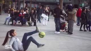 Amazing Street Football Skills By Lisa 15 years old
