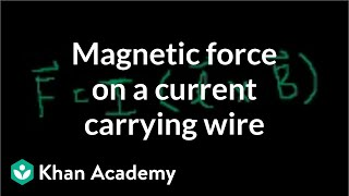 Magnetic force on a current carrying wire | Physics | Khan Academy
