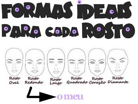 2º tema: Tipos de sobrancelhas para cada tipo de rosto