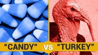 CANDY VS TURKEY - Google Trends Show