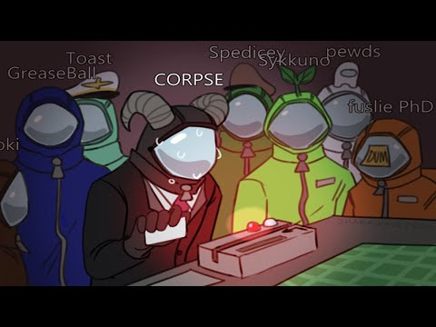 PLAYING AMONG US w PewDiePie Mr Beast Logic Jacksepticeye Valkyrae Sykkuno Toast and more