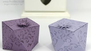 Way Back Wednesday Faceted Box Tutorial