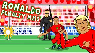 Cristiano Ronaldo misses a penalty! OOPS HE MISSED IT AGAIN! (Parody Portugal vs Austria 0-0)