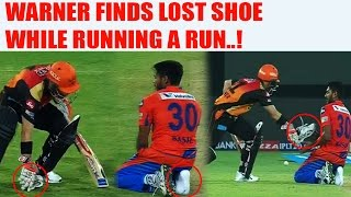 IPL 10: David Warner has your lost shoe, Basil Thampi | Oneindia News
