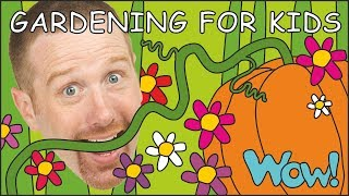 Gardening for Kids and the Pumpkin NEW   Stories for Children from Steve and Maggie   Wow English TV