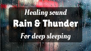 1 Hour Rain and Thunder Healing Sounds for Deep Sleeping Meditation Relaxation music free download