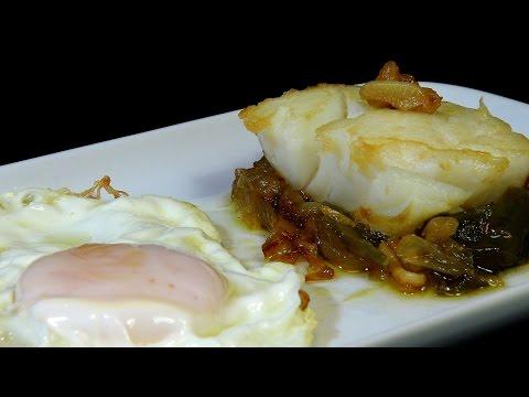 Bacalao frito con huevo