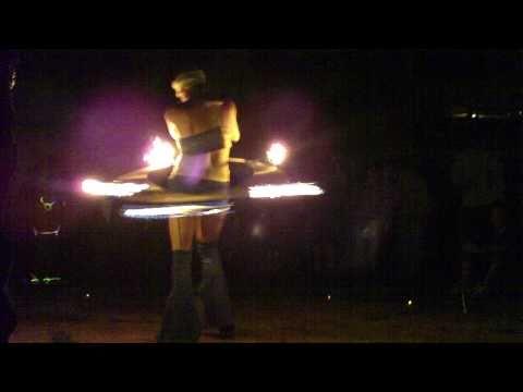 Jenn Rauscher Fire Hooping during Zoso at Schwagstock 45
