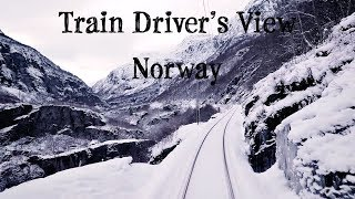 Train Driver's View: Cold winter day on the Flåm Line