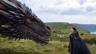 Jon conoce a Drogon | Juego de Tronos 7x05 Español HD