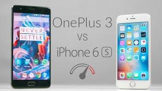 OnePlus 3 vs iPhone 6S Speedtest Comparison!