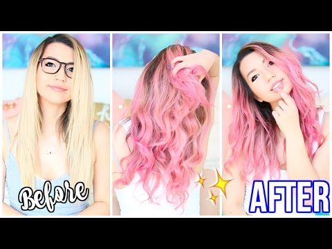 Dying My Hair Pink! Before and After + How I Dyed It!
