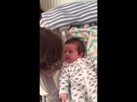 Our 2 year old sings to our 7 week old baby xxx