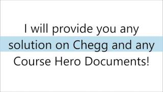 HOW TO GET CHEGG SOLUTIONS/COURSE HERO DOCUMENTS