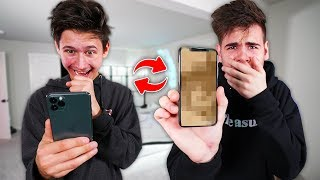Switching Phones With My Little Brother - Challenge