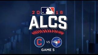 ALCS Game 5 Cleveland vs Toronto Blue jays- Highlights