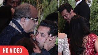 CUTE MOMENT Salman Khan hug Katrina Kaif   Boney Kapoor Kiss Salman Khan
