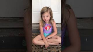 5 year old sings Body Like a Back Road by Sam Hunt