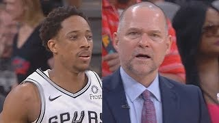 DeMar Derozan Ridiculous Shots At The Half Then Murders Nuggets! Nuggets vs Spurs Game 6