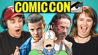 COLLEGE KIDS REACT TO COMIC-CON TRAILERS (Walking Dead, Thor, Stranger Things)