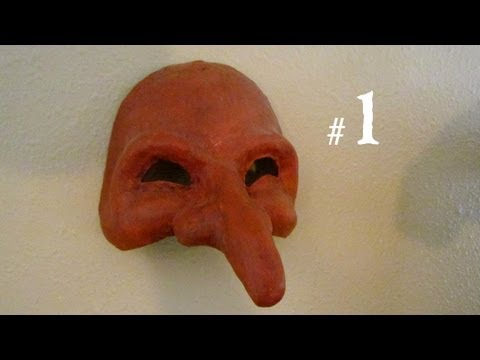 How to Make a Mask Pantalone from Commedia del Arte