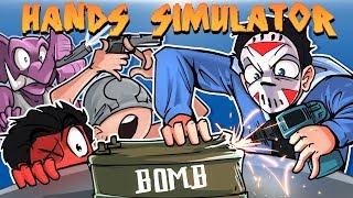 Hand Simulator - FUNNY WEAK WRIST STANDOFFS & BOMB DEFUSING!