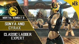 Mortal Kombat 9: Sonya and Cyrax TAG Ladder EXPERT [NO LOSSES] 2019   #MK11 #CYRAX