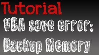 How to solve VBA save error (fire red, ANY game)