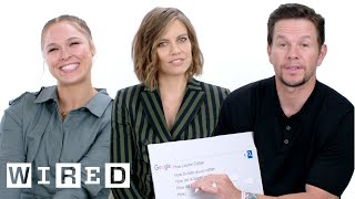 Mark Wahlberg, Ronda Rousey and Lauren Cohan Answer the Web