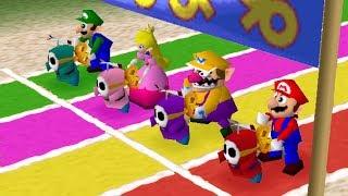 Mario Party 2 - Minigames - Mario VS Luigi VS Peach VS Wario