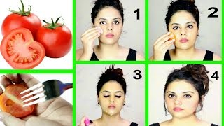 TOMATO FACIAL AT HOME FOR CLEAR & GLOWING SKIN | Tanutalks |