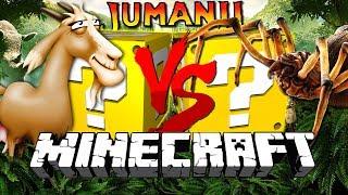 Minecraft: JUMANJI LUCKY BLOCK CHALLENGE | SCARY CREATURES!!