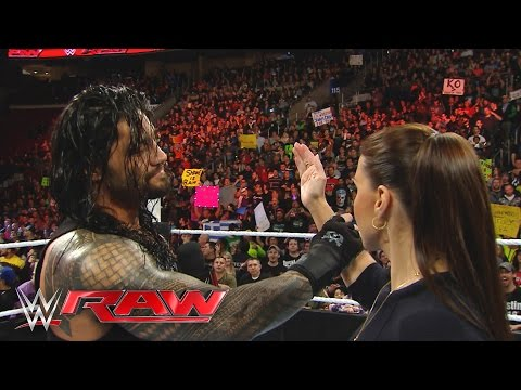 Xxx Mp4 Roman Reigns Reminds Stephanie McMahon That He Is The Authority In WWE Raw March 21 2016 3gp Sex