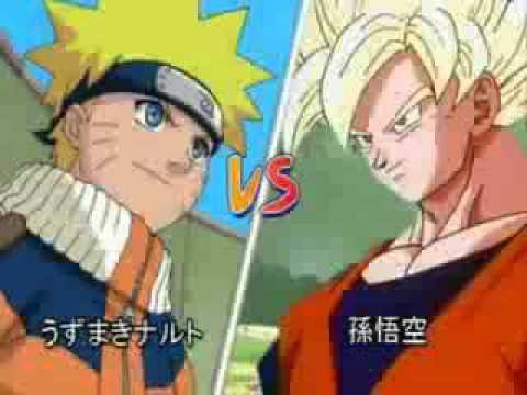 GOKU VS NARUTO BATALLA BRUTAL O.o xD