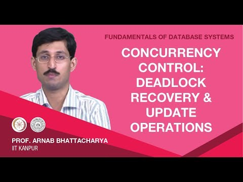 Lecture 44 Concurrency Control: Deadlock Recovery and Update Operations