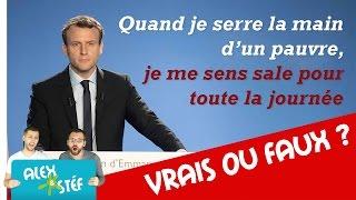 VRAIS OU FAUX - LES PIRES CITATIONS DE POLITIQUES - JEU #JE03