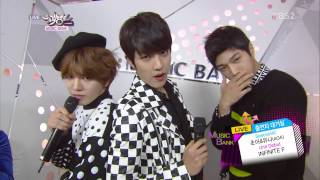 [1080p] 141205 Infinite F - Interview @ Music Bank  (Special MC by AOA)
