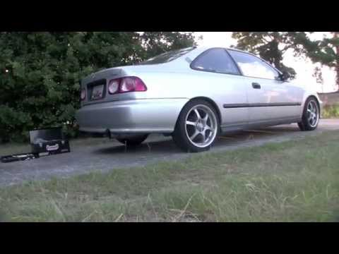 How to install a Trailer Hitch on a Honda Civic with aftermarket exhaust.