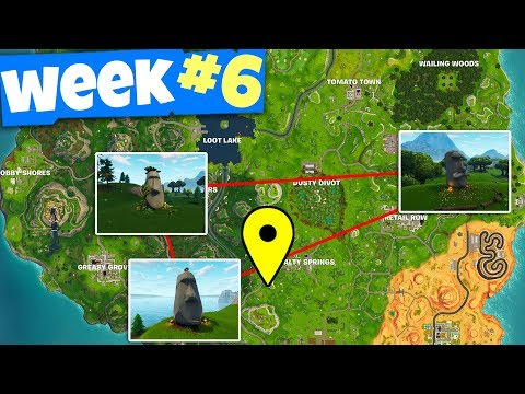 Xxx Mp4 Search Where The Stone Heads Are Looking Fortnite WEEK 6 Challenges Guide 3gp Sex