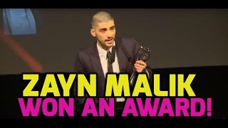 Zayn Malik thanks One Direction in acceptance speech (FULL)