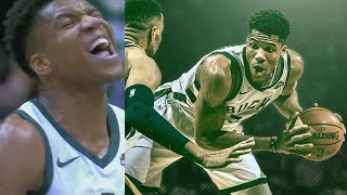Giannis Antetokounmpo No Sportsmanship Dunk on Gobert! 37 Points! 2017-18 Season