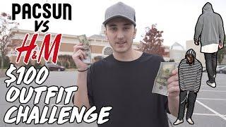 $100 OUTFIT CHALLENGE | PACSUN VS H&M!