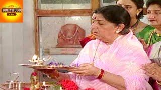 Lata Mangeshkar Celebrates Ganesh Chaturthi   Bollywood Asia