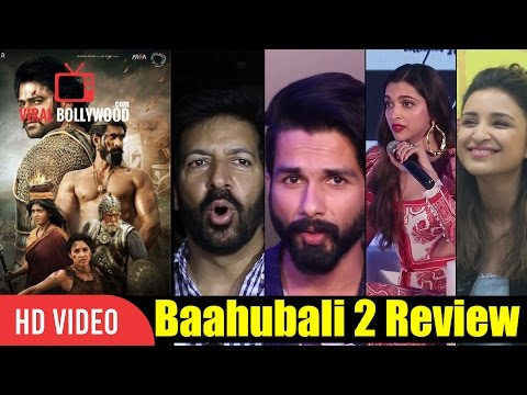 Bollywood Celebrities Reaction On Baahubali 2 | Deepika Padukone, Shahid Kapoor, Parineeti Chopra