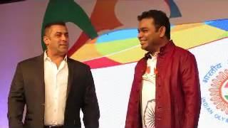 Salman Khan Ambassador Of  Rio Olympics  With AR Rahman, During Indian Rio Olympics 2016