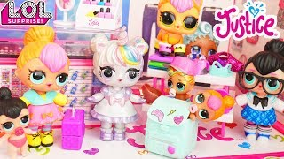 Custom LOL Surprise Doll School Trip to Justice Store with Lil Luxe Baby - Customized DIY Unicorn
